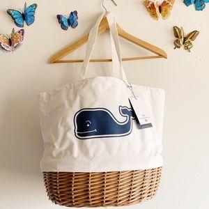 Vineyard Vines Target Picnic Basket Bag New White